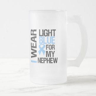 Prostate Cancer Light Blue Ribbon Nephew Coffee Mugs