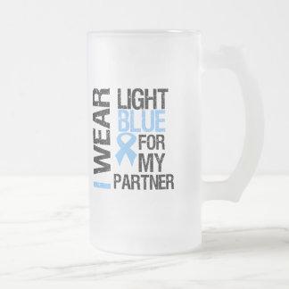 Prostate Cancer Light Blue Ribbon Partner Mug
