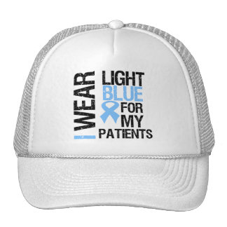 Prostate Cancer Light Blue Ribbon Patients Mesh Hats