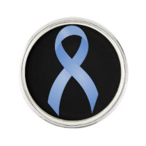 Prostate Cancer Light Blue Ribbon Pin
