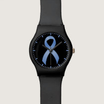 Prostate Cancer - Light Blue Ribbon Wristwatches
