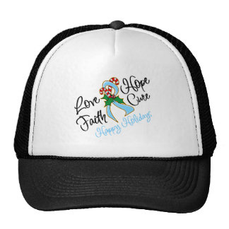 Prostate Cancer Love Hope Holidays Trucker Hat