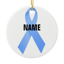 Prostate Cancer Memorial Ribbon Ceramic Ornament