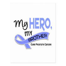 Prostate Cancer MY HERO, MY BROTHER 42 Postcard