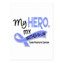Prostate Cancer MY HERO, MY BROTHER-IN-LAW 42 Postcard