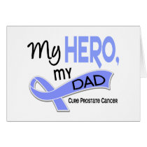 Prostate Cancer MY HERO, MY DAD 42 Card