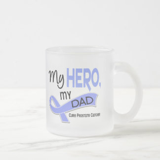 Prostate Cancer MY HERO, MY DAD 42 Frosted Glass Coffee Mug