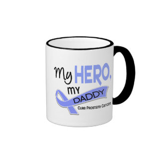 Prostate Cancer MY HERO, MY DADDY 42 Ringer Mug