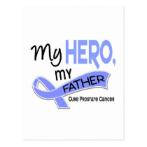 Prostate Cancer MY HERO, MY FATHER 42 Postcard