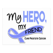 Prostate Cancer MY HERO, MY FRIEND 42 Postcard
