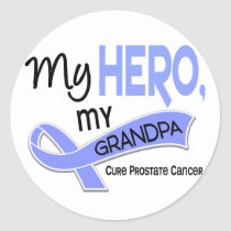 Prostate Cancer MY HERO, MY GRANDPA 42 Classic Round Sticker