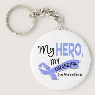 Prostate Cancer MY HERO, MY GRANDPA 42 Keychain