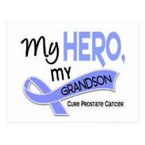 Prostate Cancer MY HERO, MY GRANDSON 42 Postcard