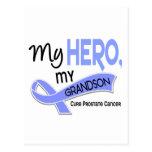 Prostate Cancer MY HERO, MY GRANDSON 42 Postcard