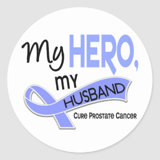 Prostate Cancer MY HERO, MY HUSBAND 42 Classic Round Sticker