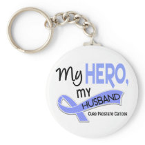 Prostate Cancer MY HERO, MY HUSBAND 42 Keychain