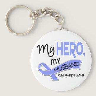 Prostate Cancer MY HERO, MY HUSBAND 42 Keychain