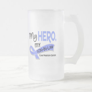 Prostate Cancer MY HERO, MY SON-IN-LAW 42 Frosted Glass Beer Mug