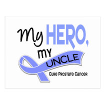 Prostate Cancer MY HERO, MY UNCLE 42 Postcard