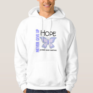 Prostate Cancer Never Give Up Hope Butterfly 4.1 Pullover
