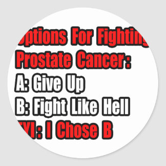 Prostate Cancer Options Classic Round Sticker
