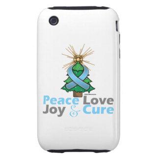 Prostate Cancer Peace Love Joy Cure Tough iPhone 3 Case