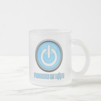 Prostate Cancer Powered by Hope 10 Oz Frosted Glass Coffee Mug