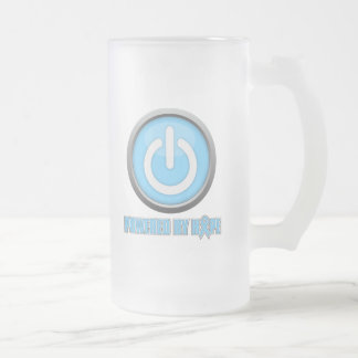 Prostate Cancer Powered by Hope 16 Oz Frosted Glass Beer Mug