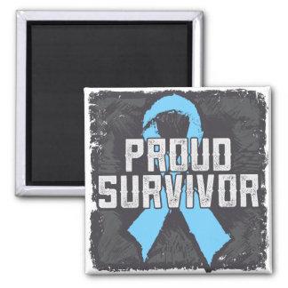 Prostate Cancer Proud Survivor Refrigerator Magnets