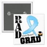 Prostate Cancer Radiation Therapy RAD Grad 2 Inch Square Button