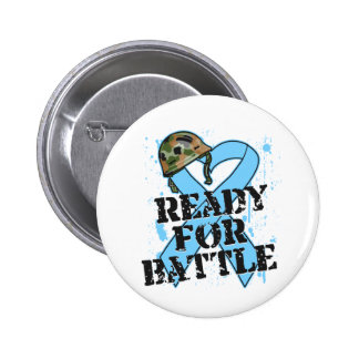Prostate Cancer Ready For Battle Pinback Buttons