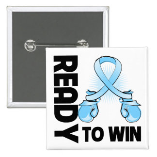 Prostate Cancer Ready To Win 2 Inch Square Button