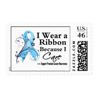 Prostate Cancer Ribbon Because I Care Stamps