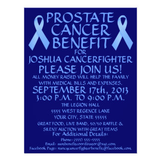 Prostate Cancer Ribbon  Benefit Flyer