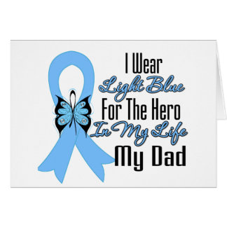 Prostate Cancer Ribbon Hero My Dad Greeting Cards