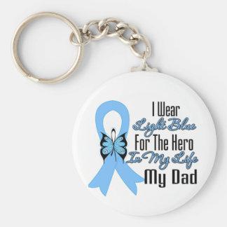 Prostate Cancer Ribbon Hero My Dad Key Chain