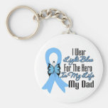 Prostate Cancer Ribbon Hero My Dad Basic Round Button Keychain