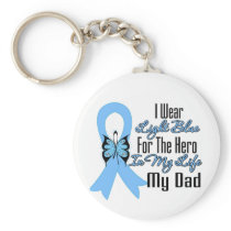 Prostate Cancer Ribbon Hero My Dad Keychain