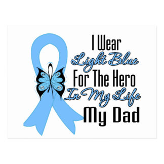 Prostate Cancer Ribbon Hero My Dad Post Cards