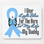 Prostate Cancer Ribbon Hero My Daddy Mousepads