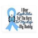 Prostate Cancer Ribbon Hero My Daddy Postcards