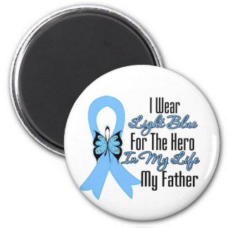 Prostate Cancer Ribbon Hero My Father Refrigerator Magnet