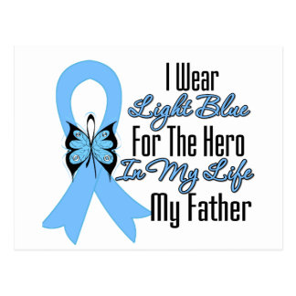 Prostate Cancer Ribbon Hero My Father Postcards