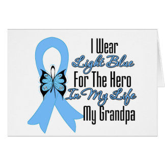 Prostate Cancer Ribbon Hero My Grandpa Greeting Cards