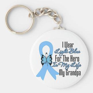 Prostate Cancer Ribbon Hero My Grandpa Keychains