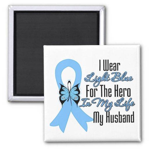 Prostate Cancer Ribbon Hero My Husband Magnet