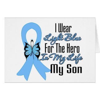 Prostate Cancer Ribbon Hero My Son Greeting Cards