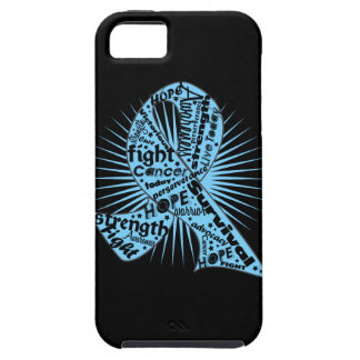 Prostate Cancer Ribbon Powerful Slogans iPhone 5 Covers