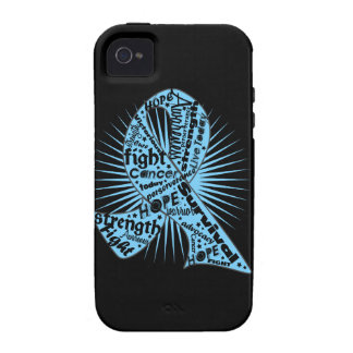 Prostate Cancer Ribbon Powerful Slogans Case-Mate iPhone 4 Covers