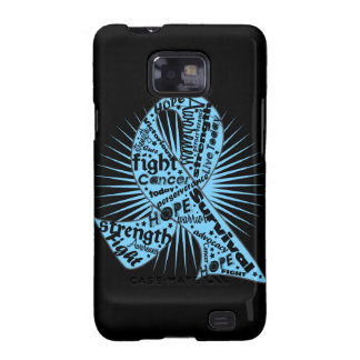 Prostate Cancer Ribbon Powerful Slogans Galaxy SII Covers